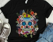 Sugar Skull Day of the Dead T-Shirt, Dia De Los Muertos, Day of the Dead Shirt, Halloween Shirt, Halloween Costume, Skull, Colorful