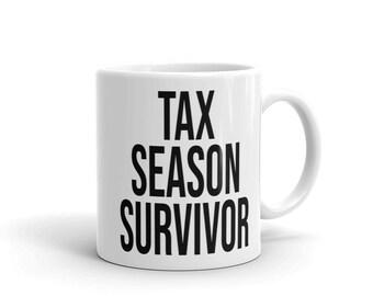 81640c9b Funny Accounting CPA Mug Tax Season Survivor