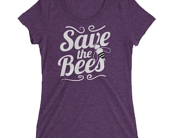 Save the Bees Ladies' t-shirt for Beekeepers & Bee Awareness