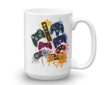 Video Game Controller Montage Mug for Gamers