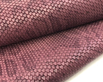 genuine leather sheets,Buttery soft leather,You Choose Size,23 colors get a full hide,LeatherSkinsShop LEATHER PYTHON Print #E-F100