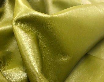 Leather Hides UL505 Green Printed Scales leather Lambskin