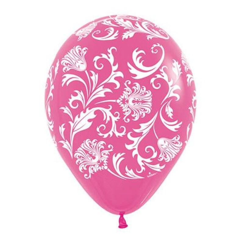 Loonballoon Collections,11\u2033 Damask Fuchsia