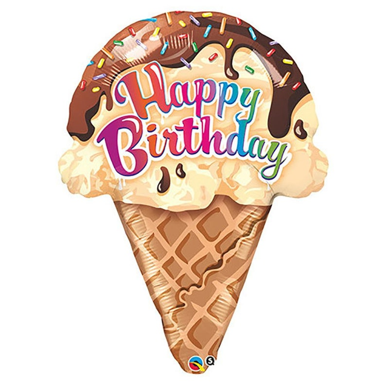 27\u2033 Birthday Ice Cream Cone Loonballoon Collections
