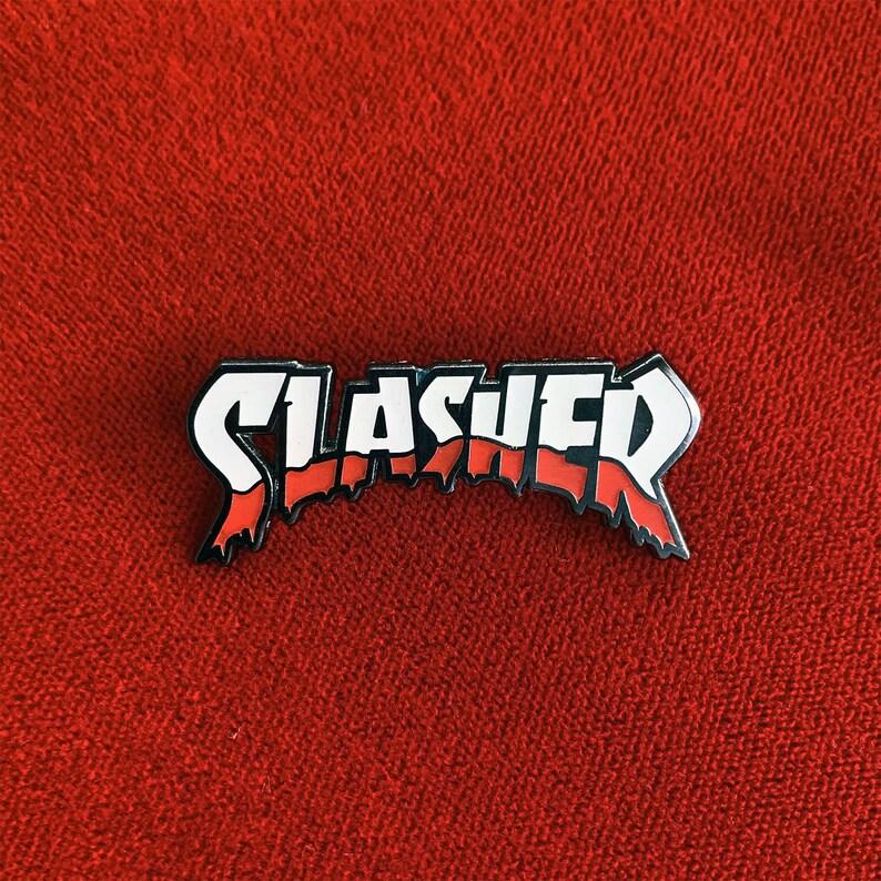 Slasher Horror Hard Enamel Pin