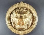 Stunning Large Vintage Antique Lion Head Door Knocker Kent, England