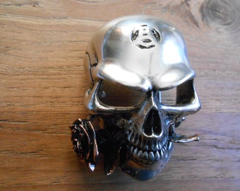Gothic Tough buckle Alchemy metal skull with Rose