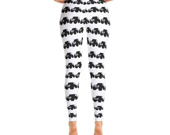 7cec304c57d949 White and Black Jeep Leggings by Dixie Cloth