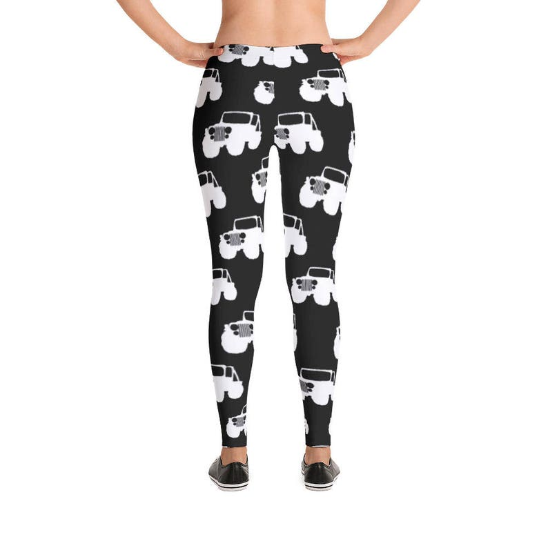 2bde1e8d58d106 Black and White Jeep Leggings by Dixie Cloth   Etsy
