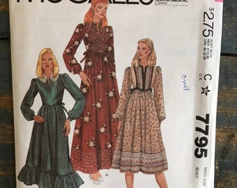 954bf7812d1 McCall s 7795  Misses  pullover dress. Vintage 1980s sewing pattern.