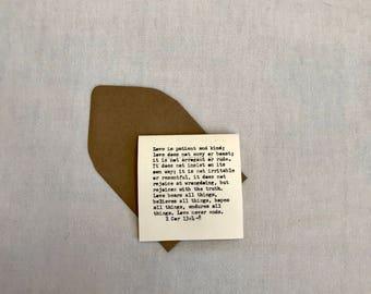 Love - mini card