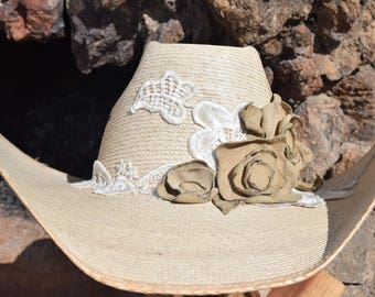 00200db89 Lace cowboy hat | Etsy