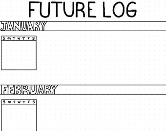 future log square grid template etsy