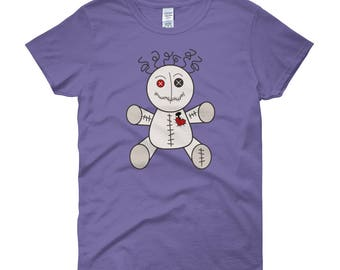 Womens Voo Doo Doll Short Sleeve T-shirt