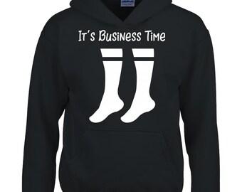 e3affedb Business Socks It's Business Time Flight Gift - Hoodie