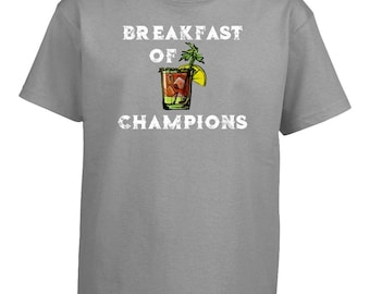 21ee1449 Bloody Mary Breakfast of Champions - Kids T-shirt