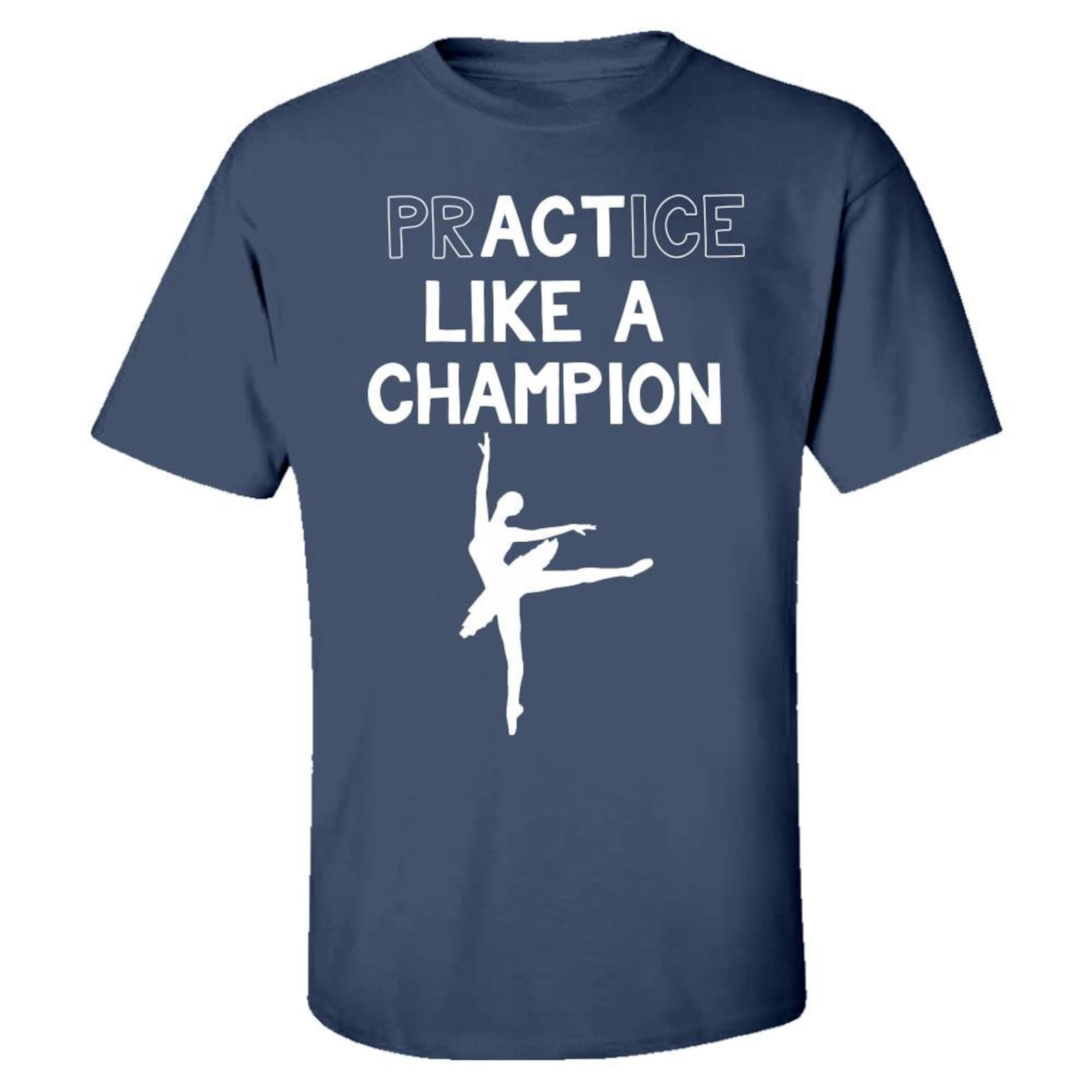 ballet practice like a champ ballerina gift - kids t-shirt