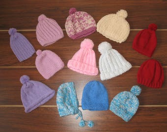 A newborn baby hat, baby girl hat, baby boy hat,crochet baby cap,baby cap, knitted baby cap