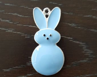 Spring Easter inspired Bunny Peep Pendant Baby Blue