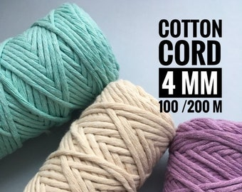Hilado de algodón 5 Mm Tejer Ganchillo Cordón Cuerda zpaghetti Zpagetti Macramé 50 M 100 M