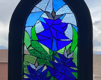 Stained Glass Mosaic Art Bluebonnets