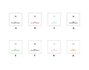"""40 2"""" Square Gift Tag Stickers"""