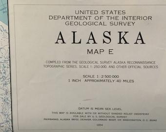 Alaska map   Etsy