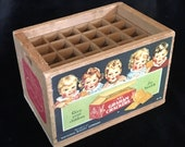 Vintage Mini Crate - Dionne Quintuplets - National Biscuit Company Graham Crackers - Desk Office Organizer