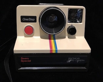 Sears Special Polaroid One Step with Original Strap - Awesome 1970s Camera -