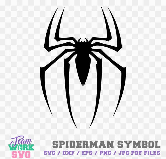 Spiderman Symbol Hero Logo Spiderman Symbol Decal Png Dxf