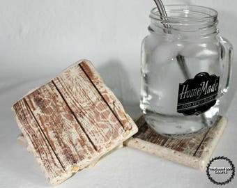 Floral Wood Themed Coasters