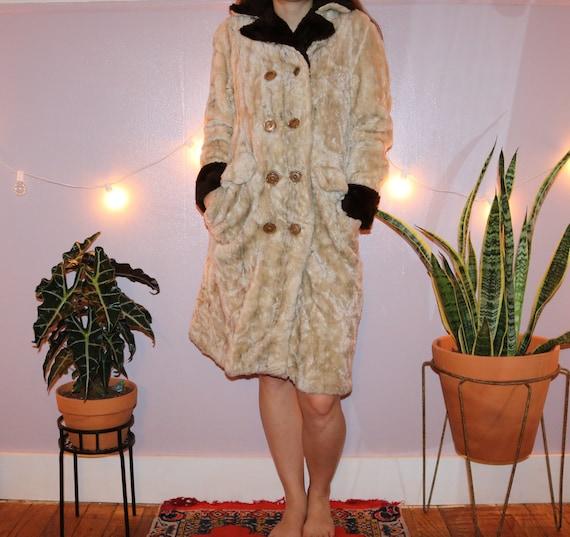 Vintage 60's Faux Fur Peacoat