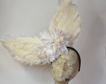 Angel Wing Headpiece - suitable for Races, Weddings, Ascot