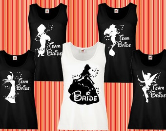 151463b31 108 Bachelorette party - Bridal party, Disney bride, bride team, bride  squad party, disney bachelorette party, braidsmaid shirts, tank tops