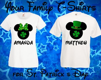 a1ef888ec 93 Disney St Patricks Day - Mickey Mouse, Minnie Mouse, Disney Family  T-shirts, Disney Family Vacation, Couples T-Shirts, hubby, wifey