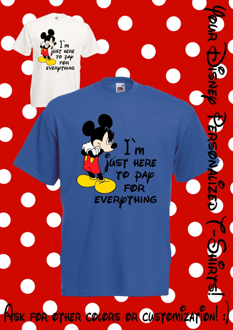 37f680ff0282d4 73 Here to pay for everything Mickey Mouse Minnie Mouse | Etsy