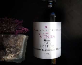 VENUS - Heart Chakra Tincture with Rose and Lavender / VEGAN & ORGANIC (1 oz.)
