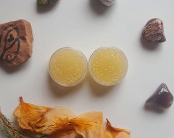 Lip Polish Scrub with Organic Sugar, Sweet Almond Oil, and Essential Oils