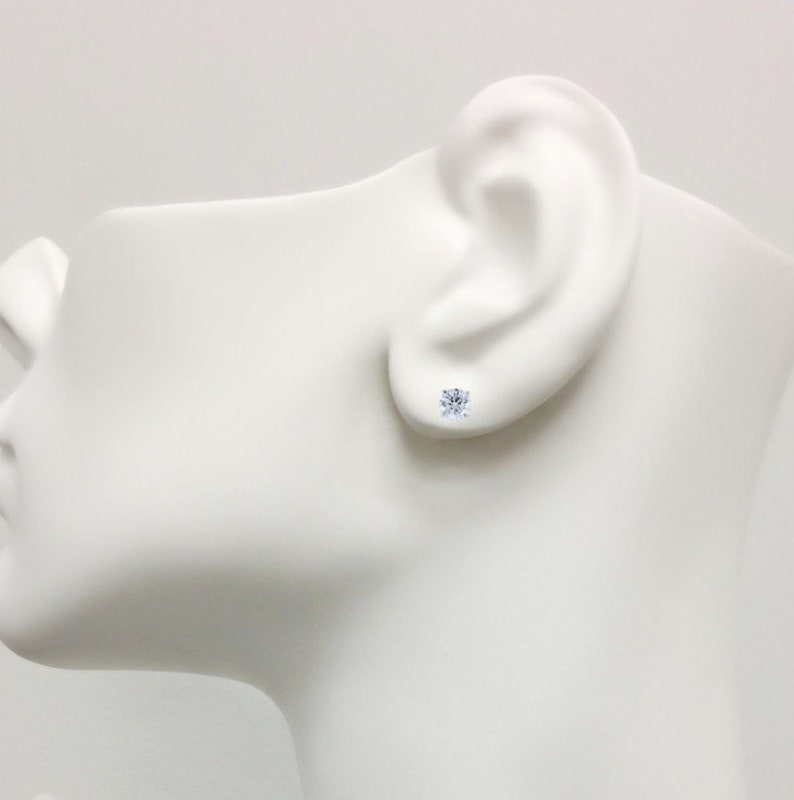 1 TCW   Brilliant Round Stud Earrings White Yellow Gold 14k \u00a0Fancy Earrings Created