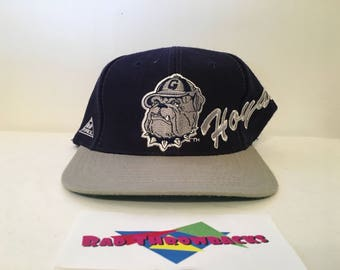 6b4a481433e Dead Stock Vintage 1990s Georgetown University Hoyas Blue Gray Apex One Snapback  Hat