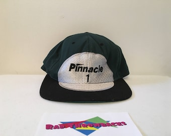 b73cde466dc Rare Vintage Pinnacle One Golf Ball  1 American Needle Green Black Snapback  Dad Hat
