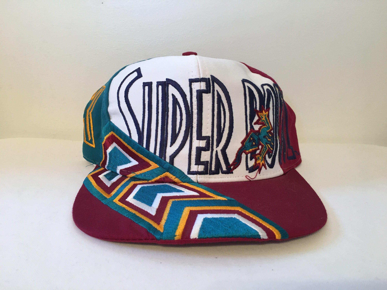 7c37bfb0e Rare Vintage 1996 NFL Super Bowl XXX 30 Aztec Lizard Logo 7 Snapback Hat