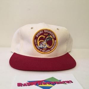 New Dead Stock Vintage Rare 1980s Ducks Unlimited Neon Magenta Roped Snapback Hat