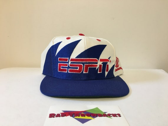VERY RARE New Dead Stock Vintage ESPN Logo Athletic Sharktooth  f70c0f6ee
