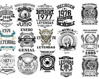 Vinyl Designs Vectors legends for t-shirts in vectors