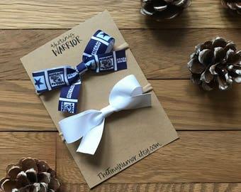 Dallas Cowboys Bow // White Bow // Bow Sets