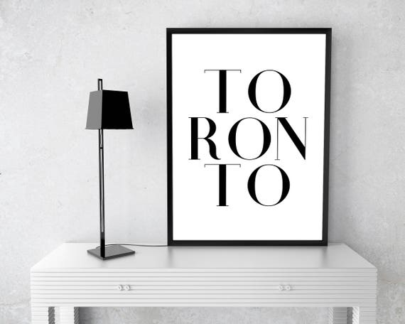 Toronto Paper Print Poster Canada Maple Leaf Country Etsy