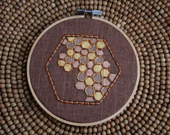 Honeycomb Embroidery