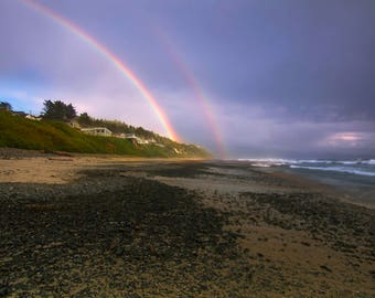 Rainbow at Oceanside, Oregon |  Pacific Northwest Photography | Print | Metal, Canvas, Lustre