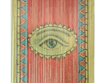 Beaded Curtain / Room Dividers / Beaded Door Curtain / Bamboo Beaded  Curtains For Doorways / Curtain For Window / The Eye